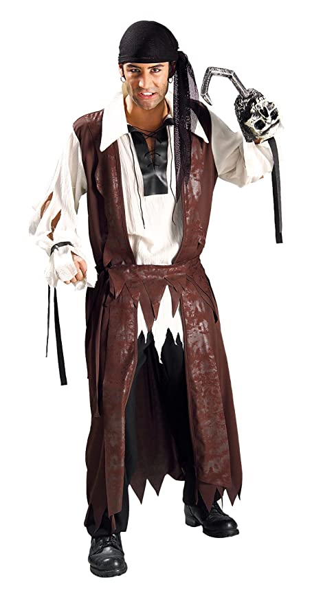 Rubie's Costume Pirates Of The Seven Seas Caribbean Pirate Costume, Brown, One Size