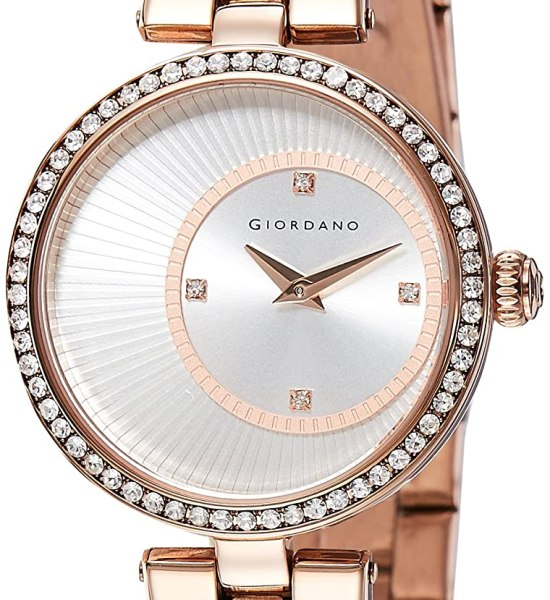 Giordano Analog Silver Dial Women's Watch-A2056-33
