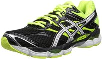 ASICS Men's Gel-Cumulus 16 Running Shoe,Black/White/Flash Yellow,10 M US