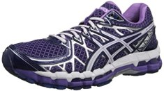 ASICS Women's Gel-Kayano 20 Running Shoe,Purple/White/Lavender,6 M US