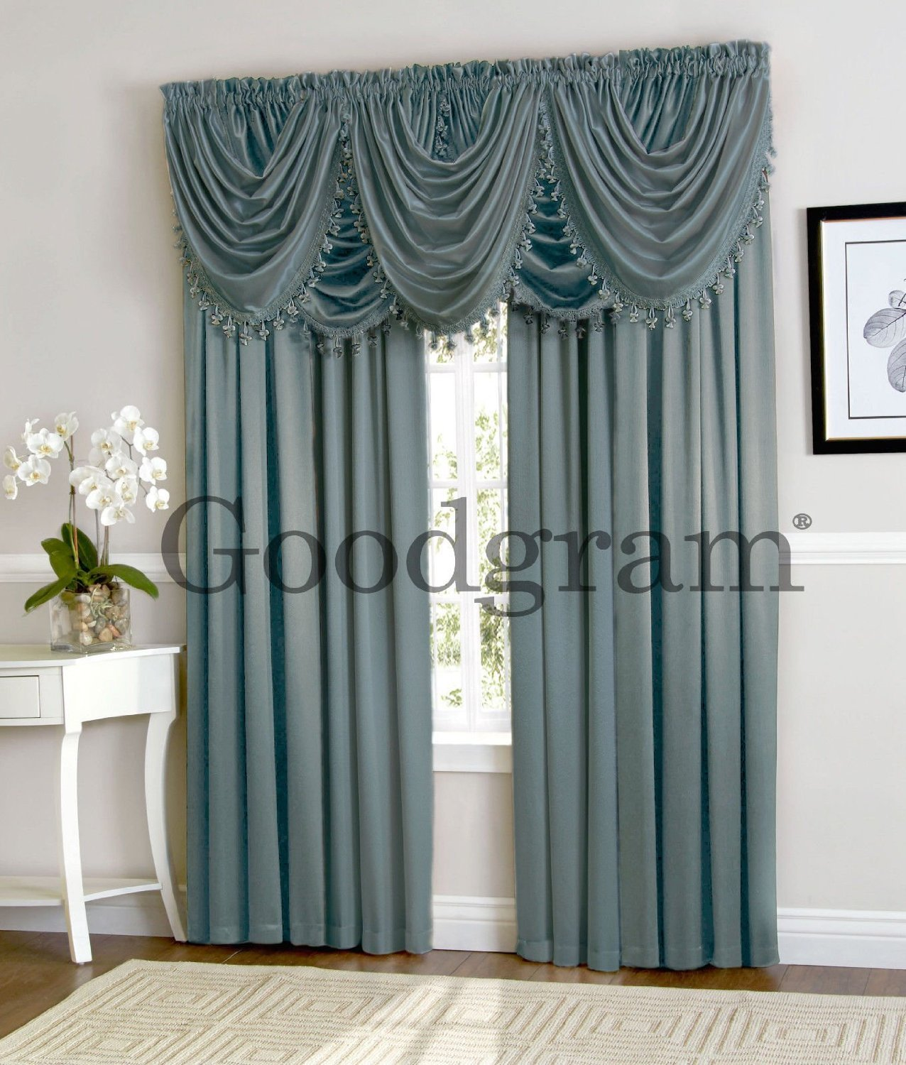 New Window Curtain Waterfall Single Fringed Valance Only