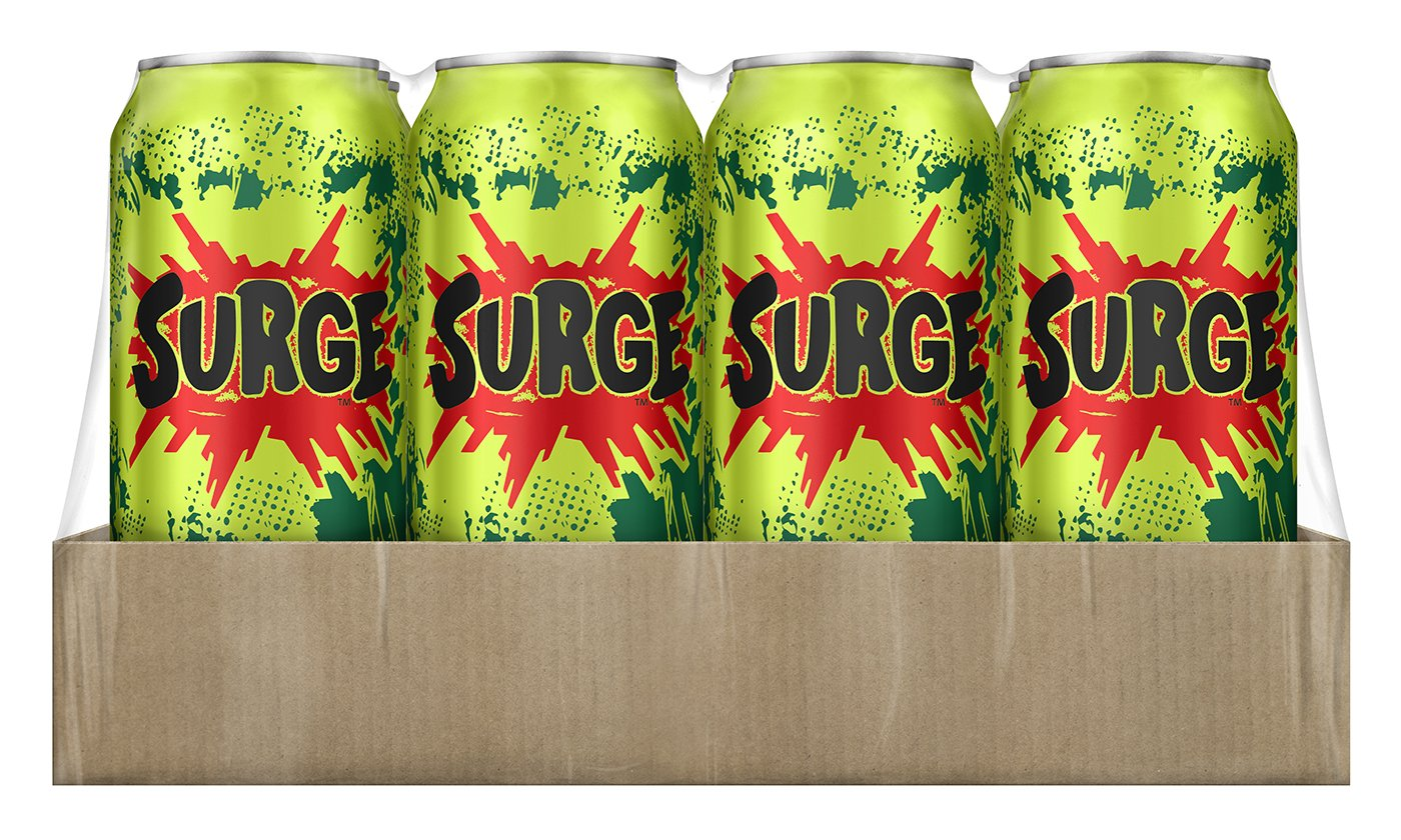Coca-Cola Surge, available exclusively through Amazon.com.  Image courtesy of Amazon.com