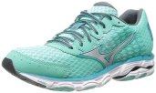 Mizuno Women's Wave Inspire 11 Running Shoe,Florida Keys/Silver,6 2A US