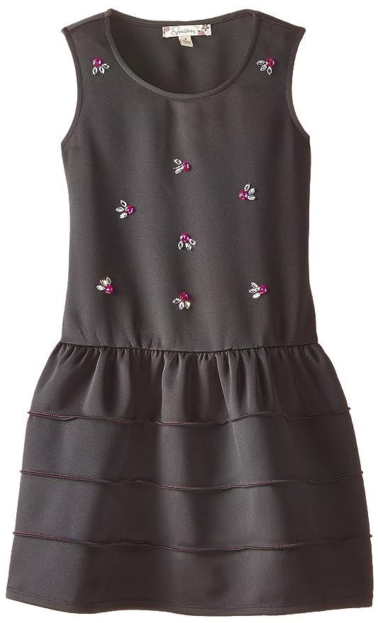 Speechless Big Girls  Scuba Tank Dress with Jewel Embellishment 39b8aa3bd