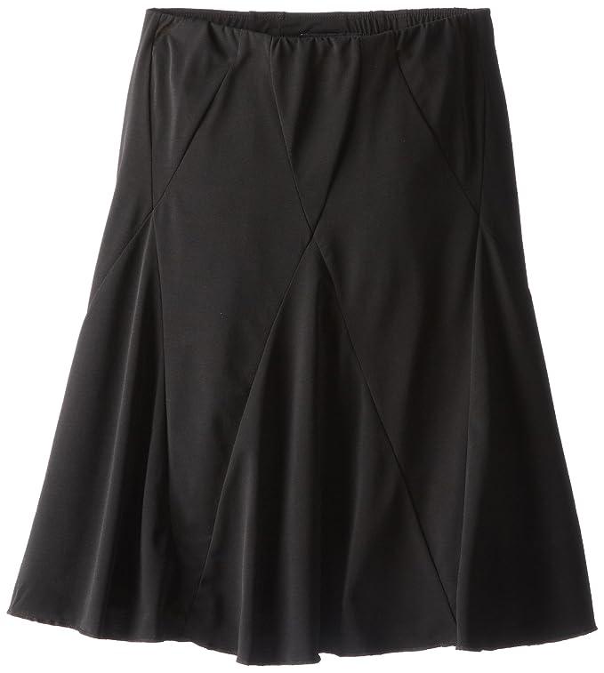 Amy Byer Big Girls' Knit Seamed Skirt, Black, Large