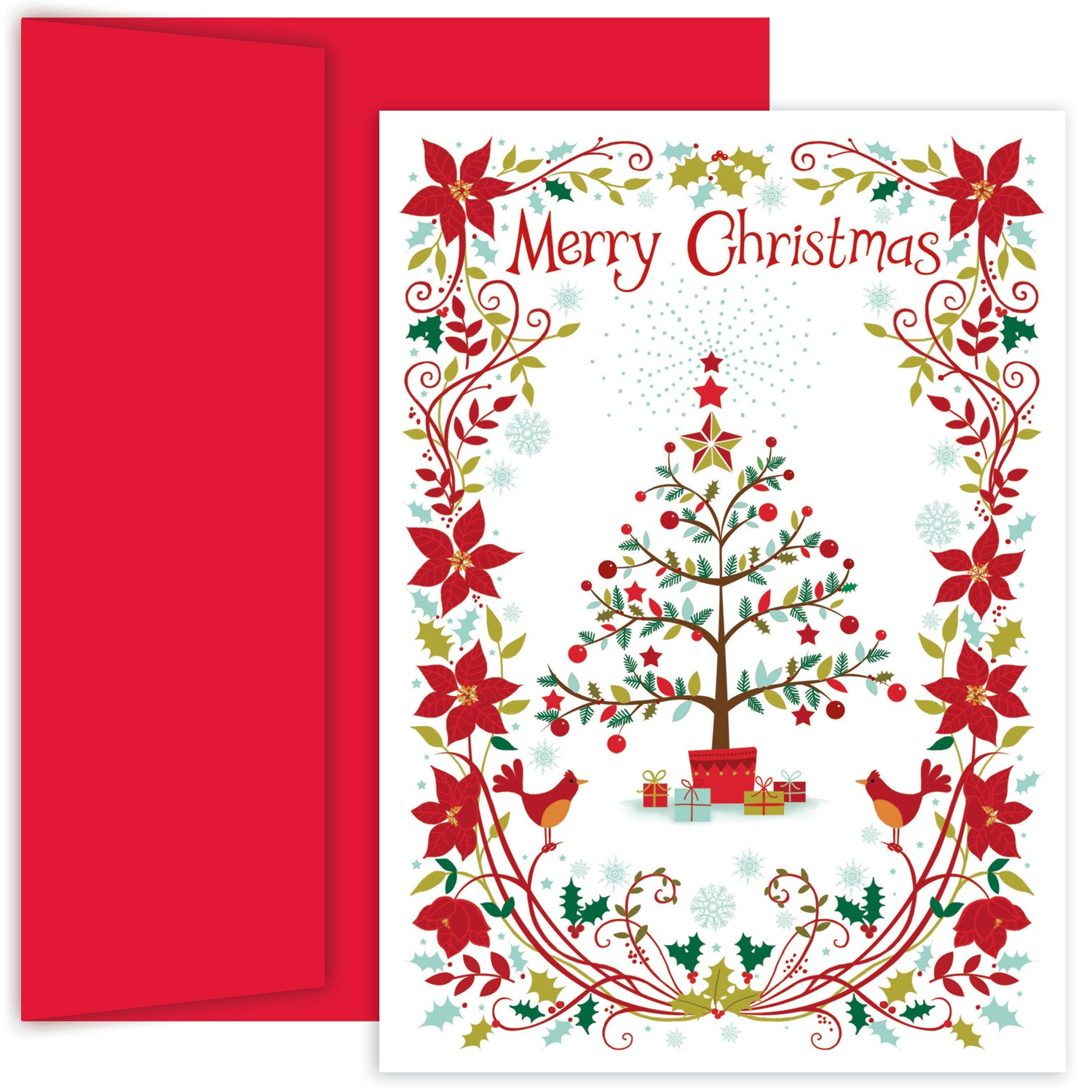 Poinsettia Boxed Christmas Cards Christmas Wikii