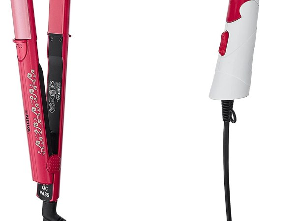 Nova Freshers Pack NHS 981 and NHP 8103 Foldable Hair Dryer (Pink/Red)