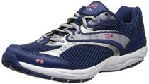RYKA Women's Dash Walking Shoe,Dash Blue/Silver/Pink,5 M US