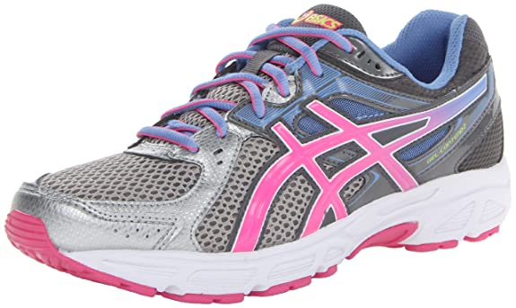 eadfadb8df ASICS Women's Gel-Contend 2 Running Shoe,Lightning/Hot Pink/Periwinkle Blue