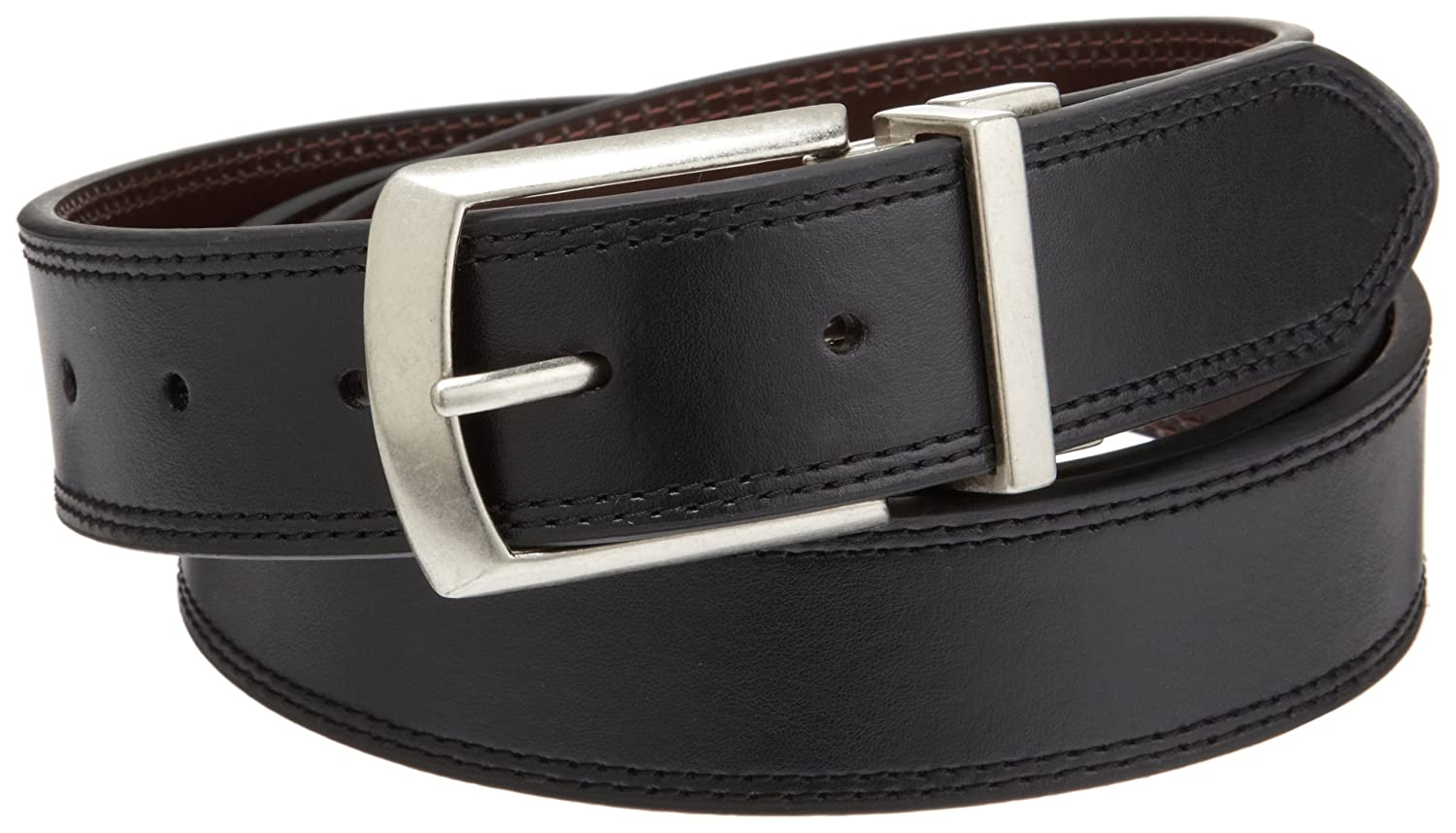 Dickies Mens 35mm Leather Reversible Belt With Stitch