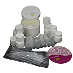 Lip Balm DIY Kit Professional Natural Lip Balm Base with Aloe Vitamin E 12 Tubes12 Dual Wall Containers12 Transfer Droppers
