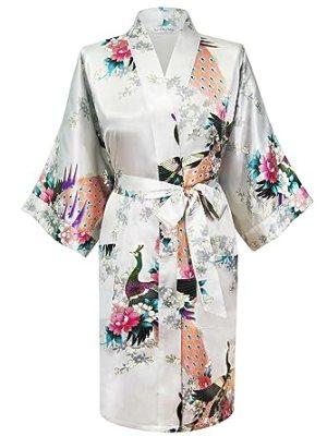Favorite Robe: Swhiteme Women's Kimono Robe