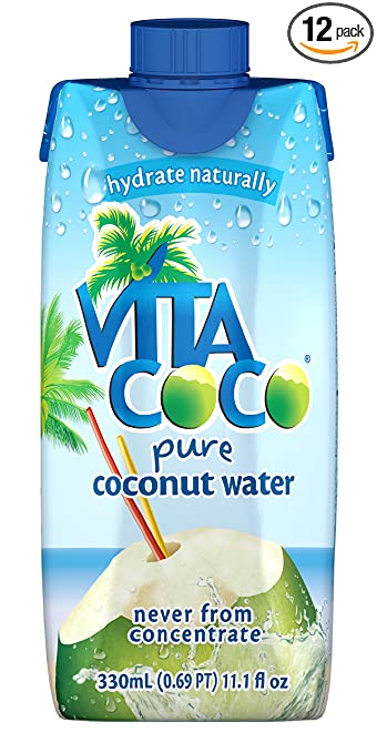 Vita Coco Coconut Water, Pure, 11.1 Ounce (Pack of 12)