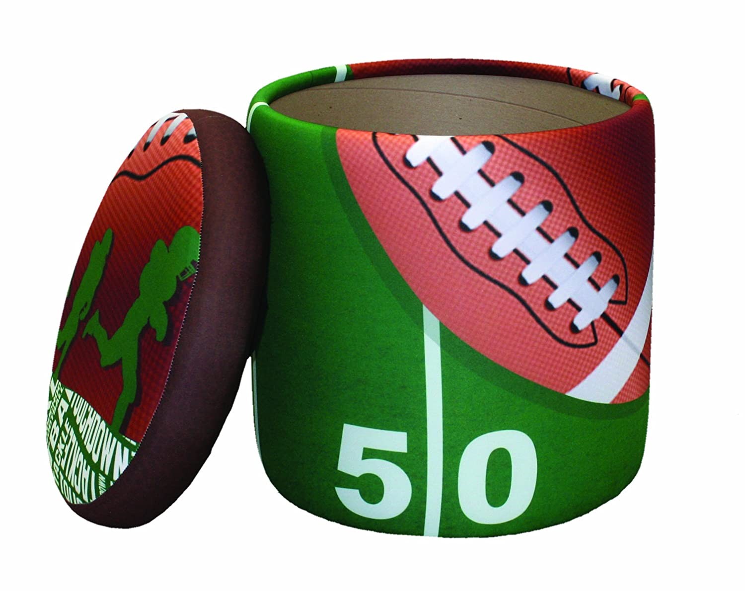 Newco Kids Football 50 Yard Line Storage Ottoman