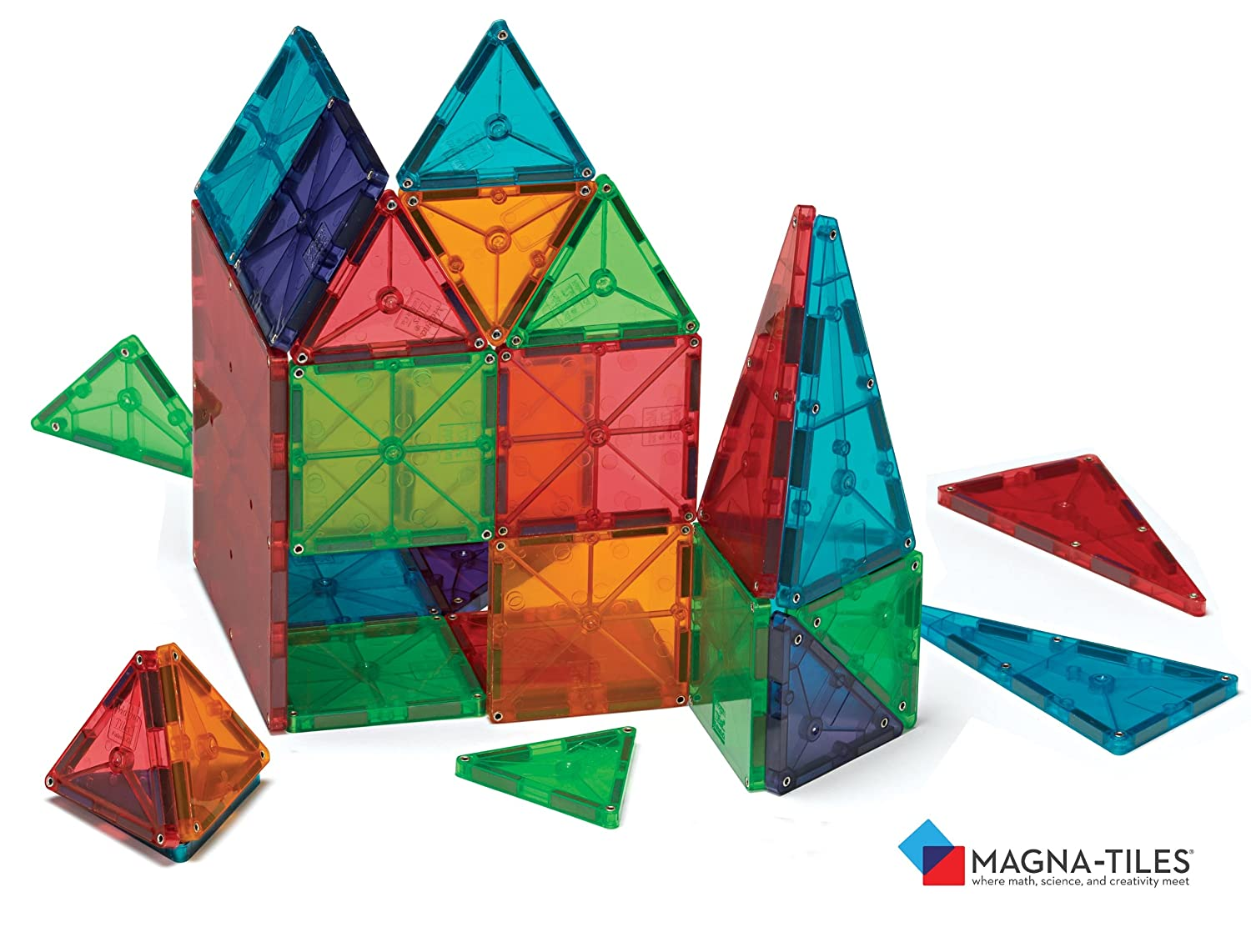 Magna-Tiles® Clear Colors 100 Piece Set by Valtech Co.    855 customer reviews