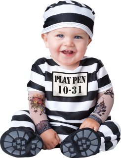 Image result for InCharacter Costumes Baby's Time Out Convict Costume