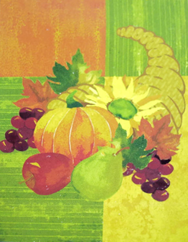 Thanksgiving Cornucopia Garden Flags
