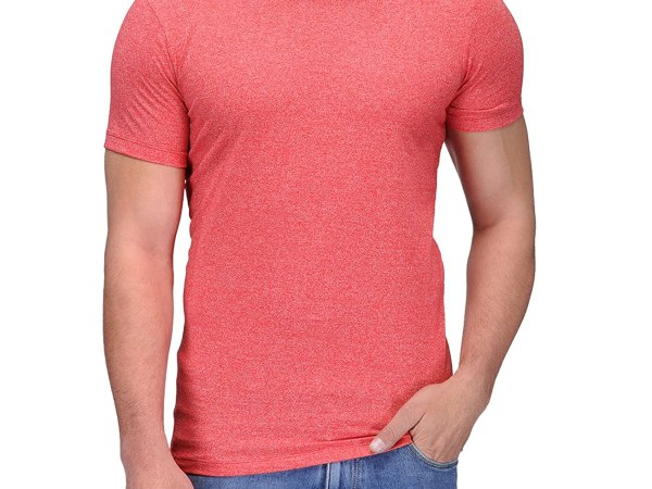 AWG Mens Grindle Round Neck T-shirt - Red
