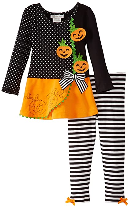 Bonnie Jean Little Girls' Jack-o'-Lantern Legging Set