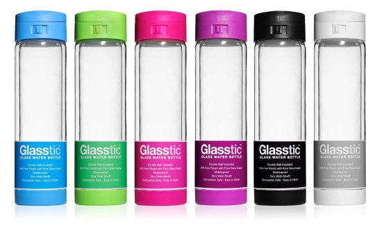 Super smart birthday gift for women, girls. Glasstic glass water bottle