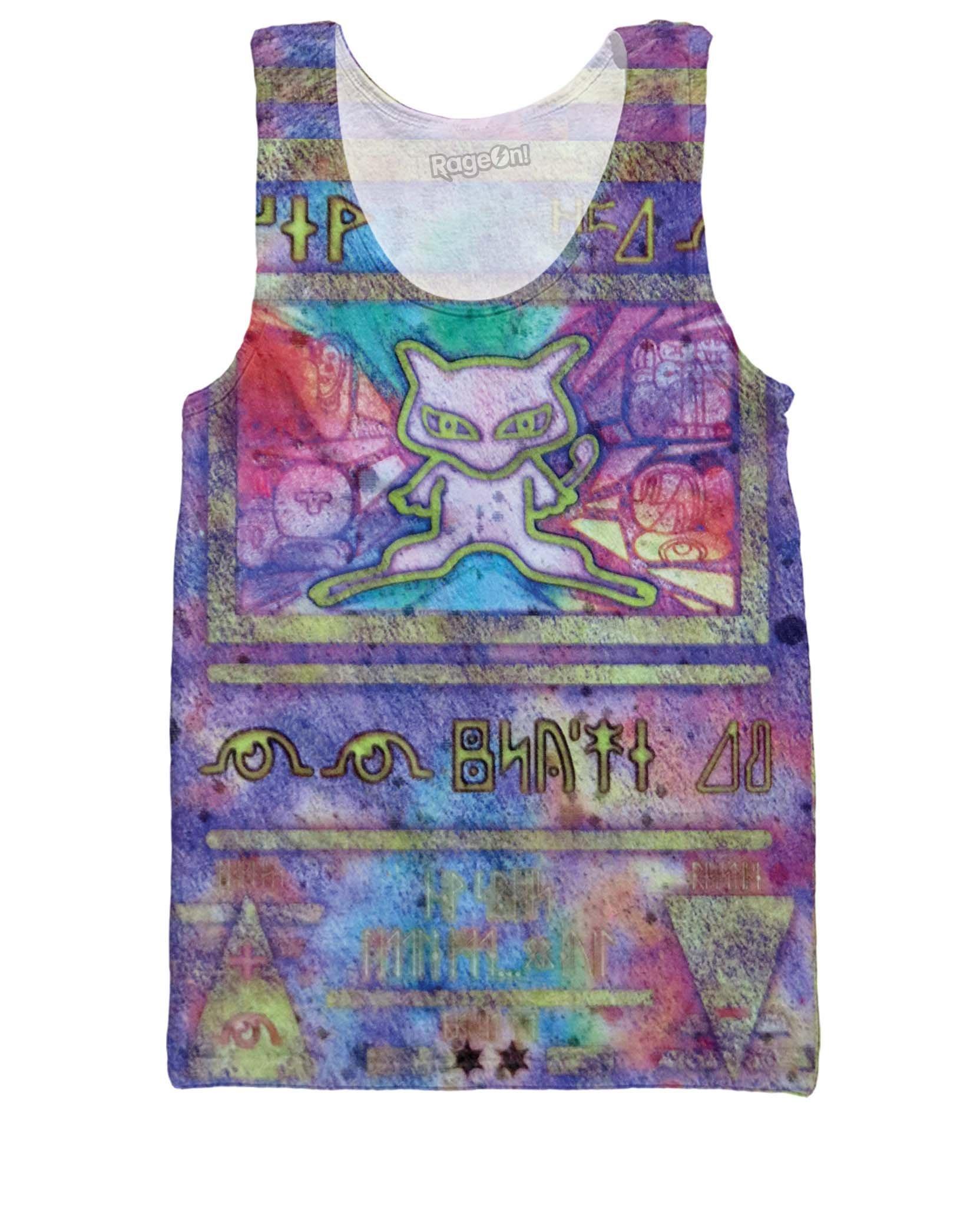 RageOn Men's Ancient Mew Tank Top Purple Sleeveless