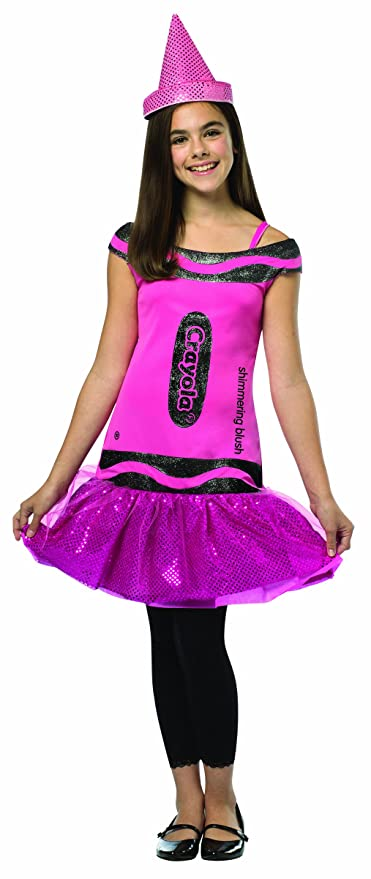 Rasta Imposta Crayola Shimmering Blush Glitz & Glitter Dress, Pink, Tween 10-12
