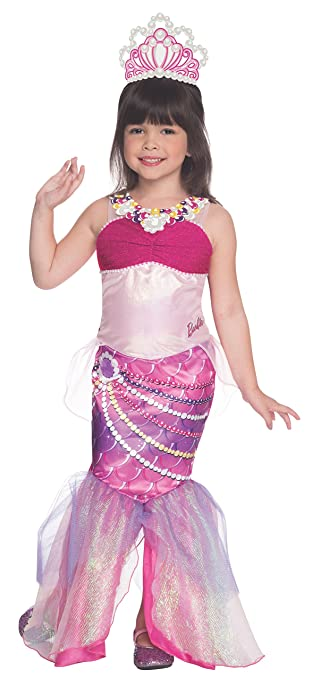 Rubies Barbie and The Pearl Princess Deluxe Lumina Costume, Child Medium
