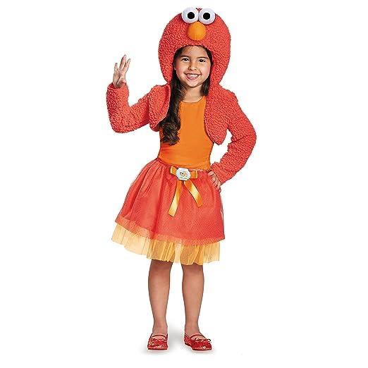Disguise 76895S Elmo Shrug And Tutu Child Kit Costume, Small (2T)