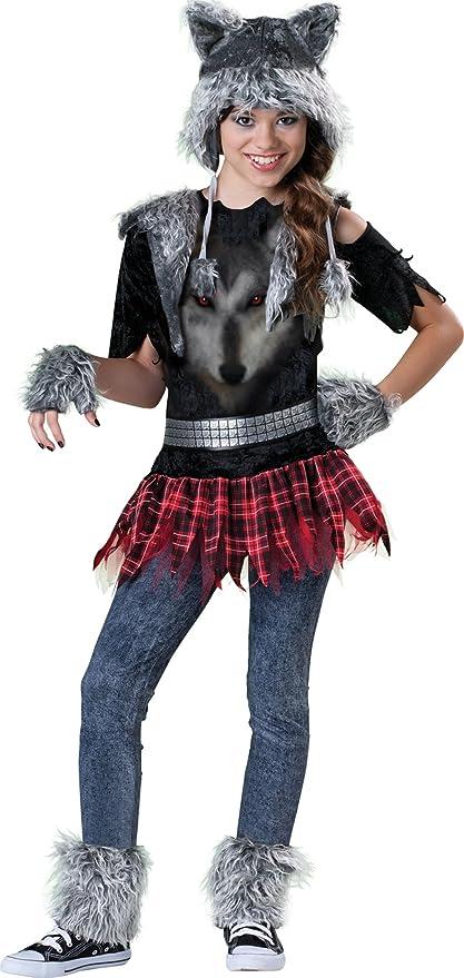 Incharacter Costumes Tween Wear Wolf Costume, Grey/Black/Red, Medium