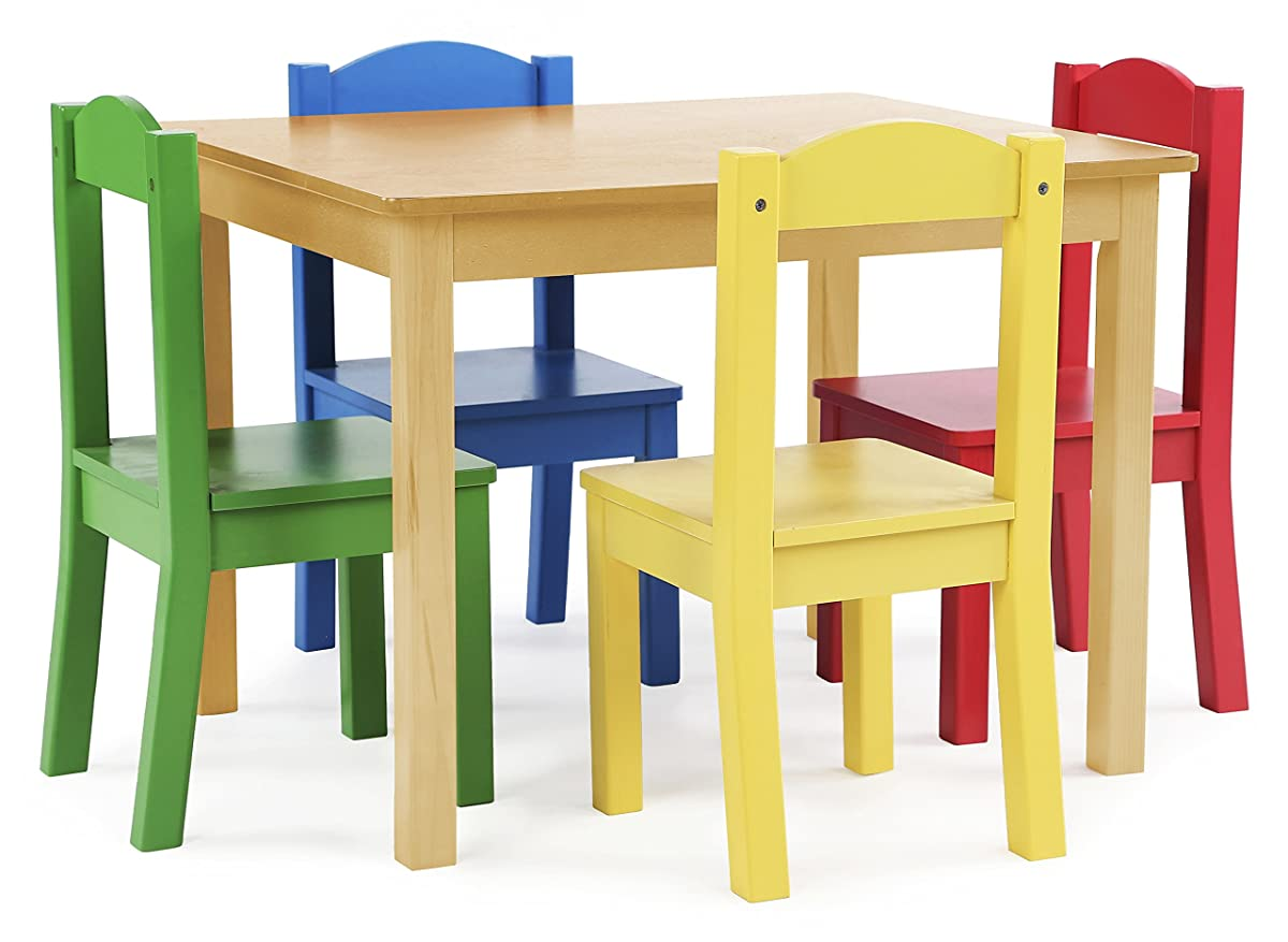 tot tutors wood table and 4 chairs set on Kids Round Table And Chairs id=76714