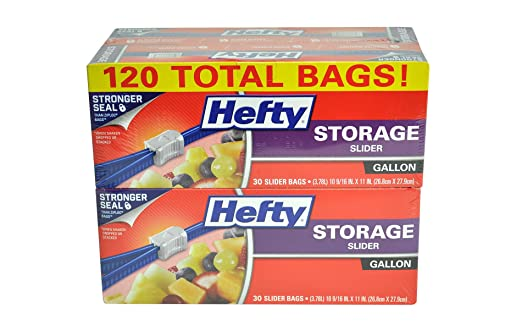Hefty Slider Storage Bags, Gallon, 120 Count