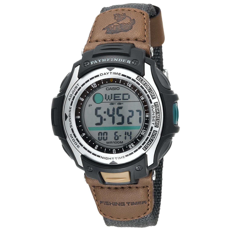 jam tangan Casio Men's PAS400B-5V Pathfinder Forester Fishing Moon Phase Watch