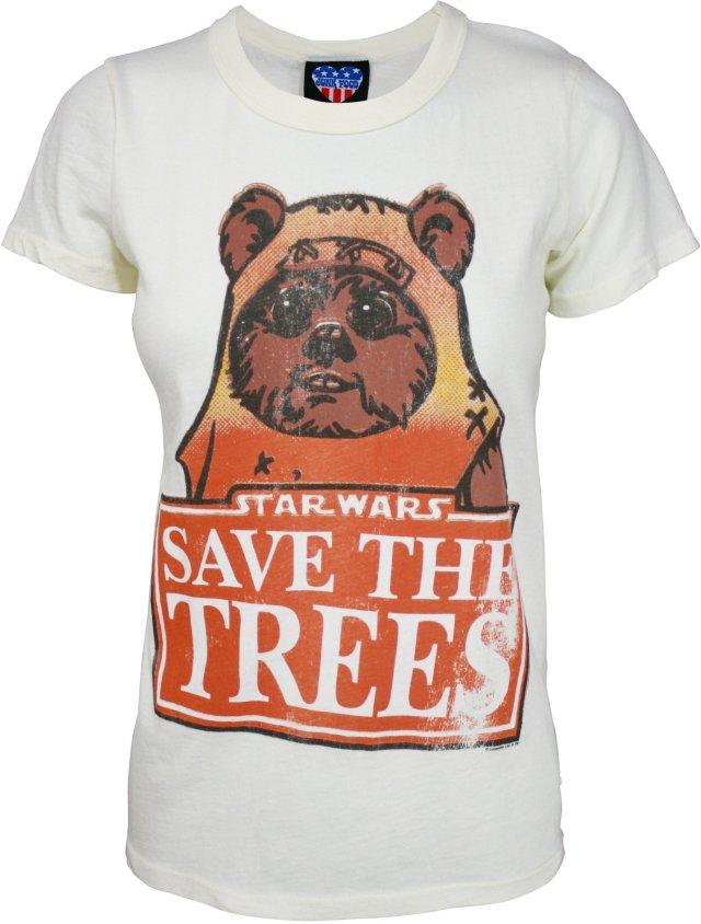 Ewok Save the Trees T-Shirt Ivory