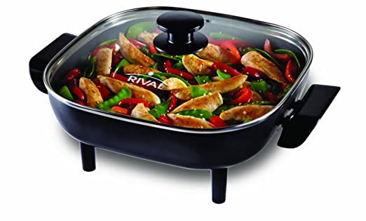 Rival CKRVSK11 11-Inch Square Electric Skillet, Black