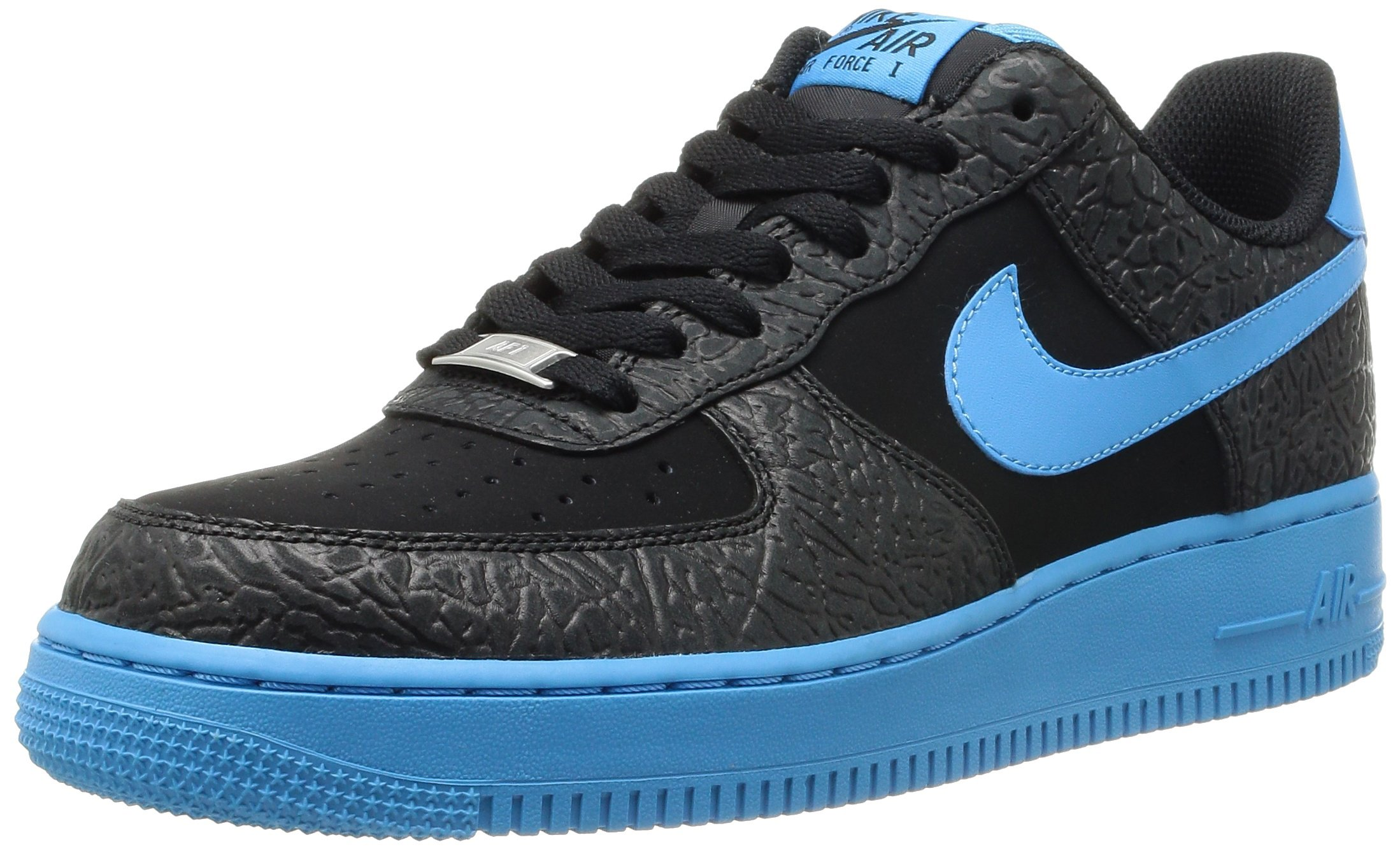 Nike Air Force 1 Mens Basketball Shoes Color: Black / Vivid Blue