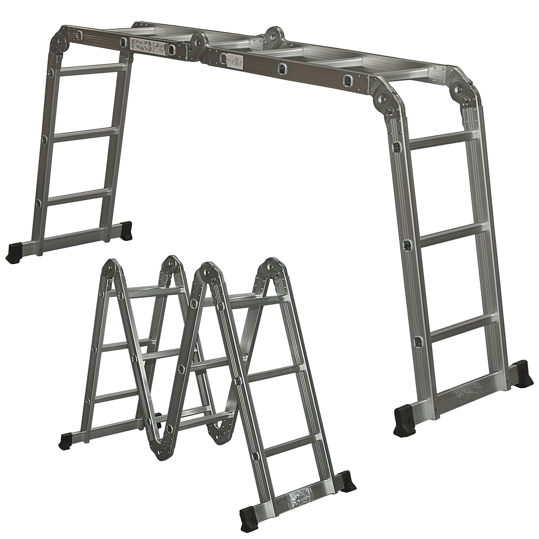 Aluminum Extension Folding Step Ladder Telescoping