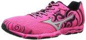 Mizuno Women's Wave Hitogami 2 Running Shoe, Neon Pink Silver, 11 B US