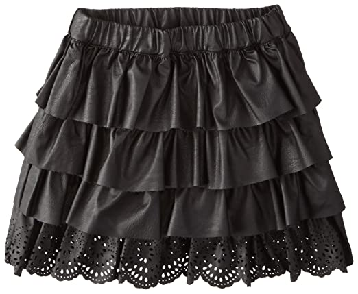 Petit Lem Little Girls' Animalicious Woven Skirt, Black, 4