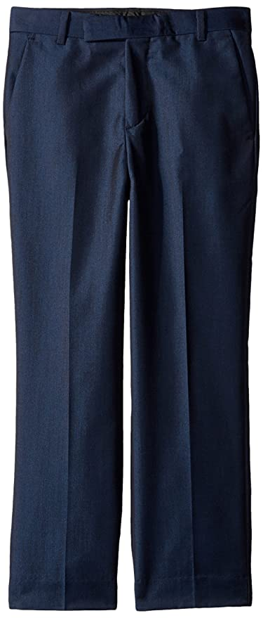 Calvin Klein Big Boys' Fine Linen Pant, Dark Blue, 12