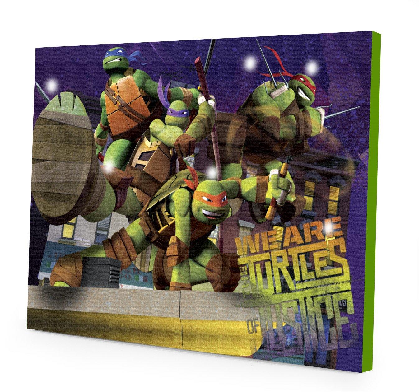 Teenage Mutant Ninja Turtles LED Light Up Canvas Wall Art