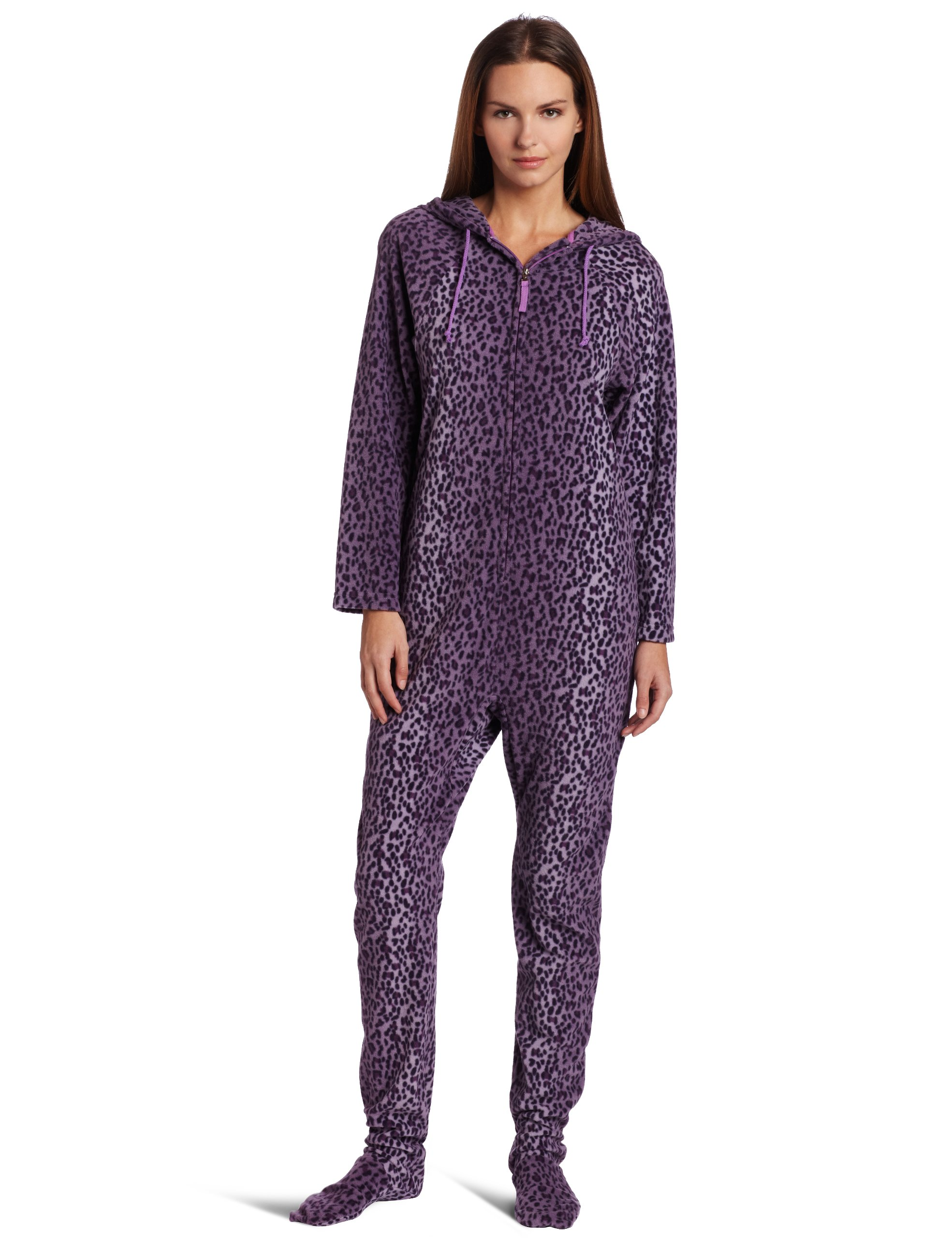 Casual Women's One Piece Footed Pajama