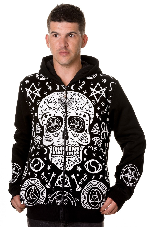 Black Skull Pentagram Hoodie