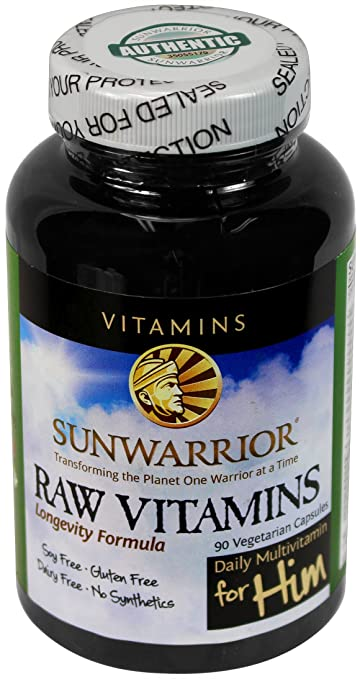 Sunwarrior Raw Vegan Multivitamins and Enzymes for Him, 90 Capsules (FFP)