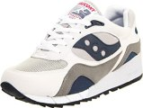 Saucony Originals Men's Shadow 6000 Cushion Sneaker,White/Grey/Navy,7 M