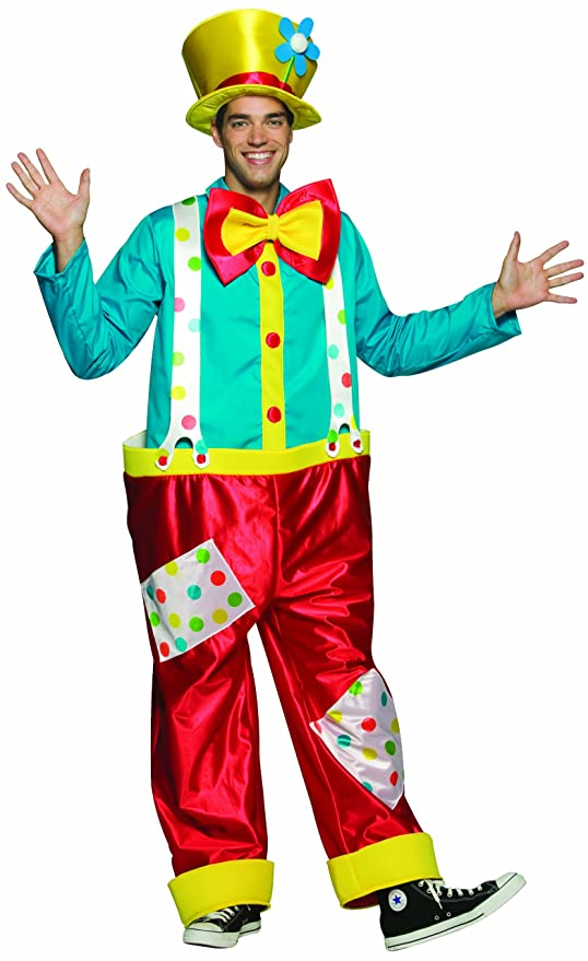 Rasta Imposta Clown Male Costume, Multi-Colored, One Size