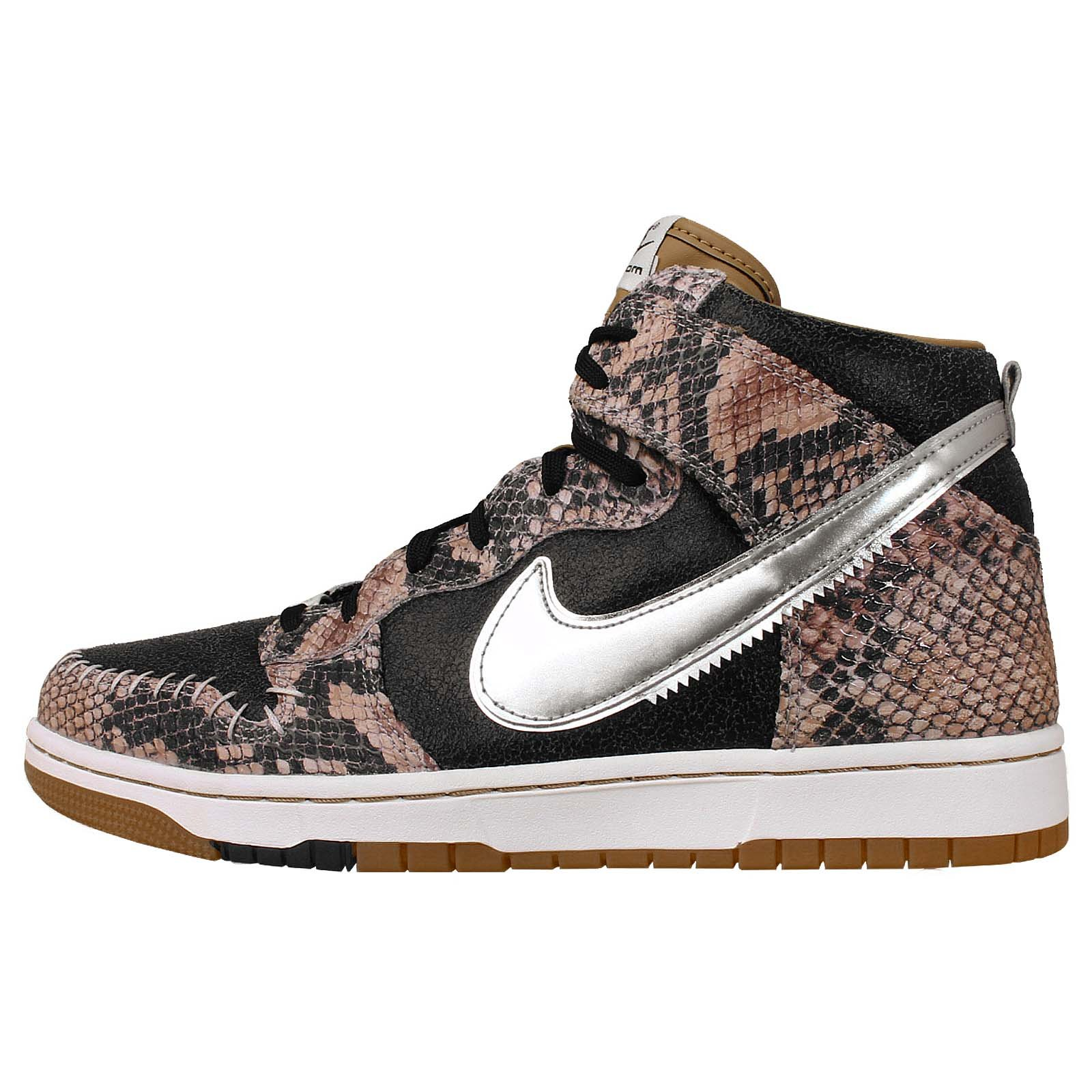 Nike Dunk CMFT Premium QS Mens Basketball Shoes Color: Black/Metallic Silver-Sail