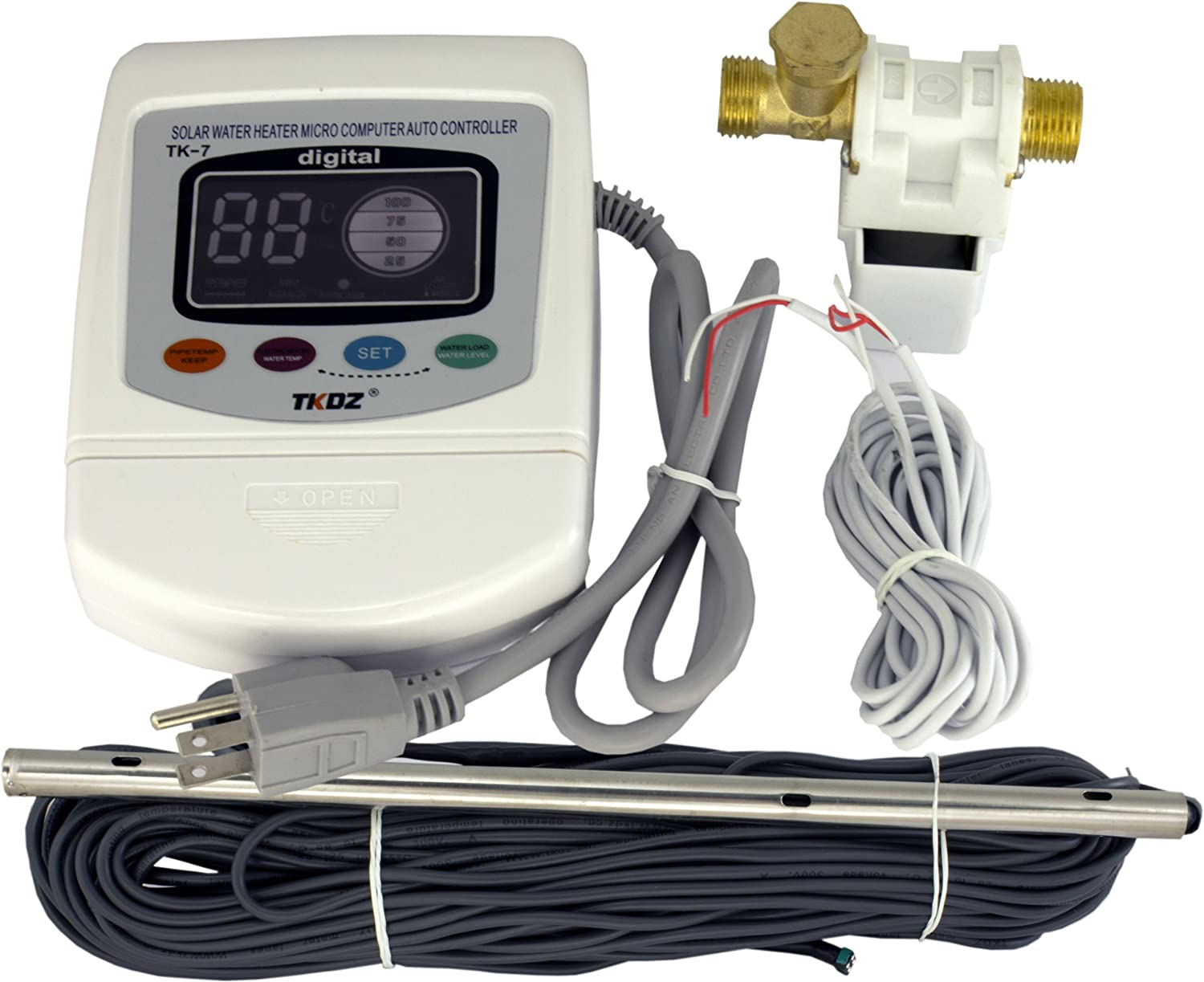 TK-7 Passive Solar Water Heater Controller 110v Heating Element and