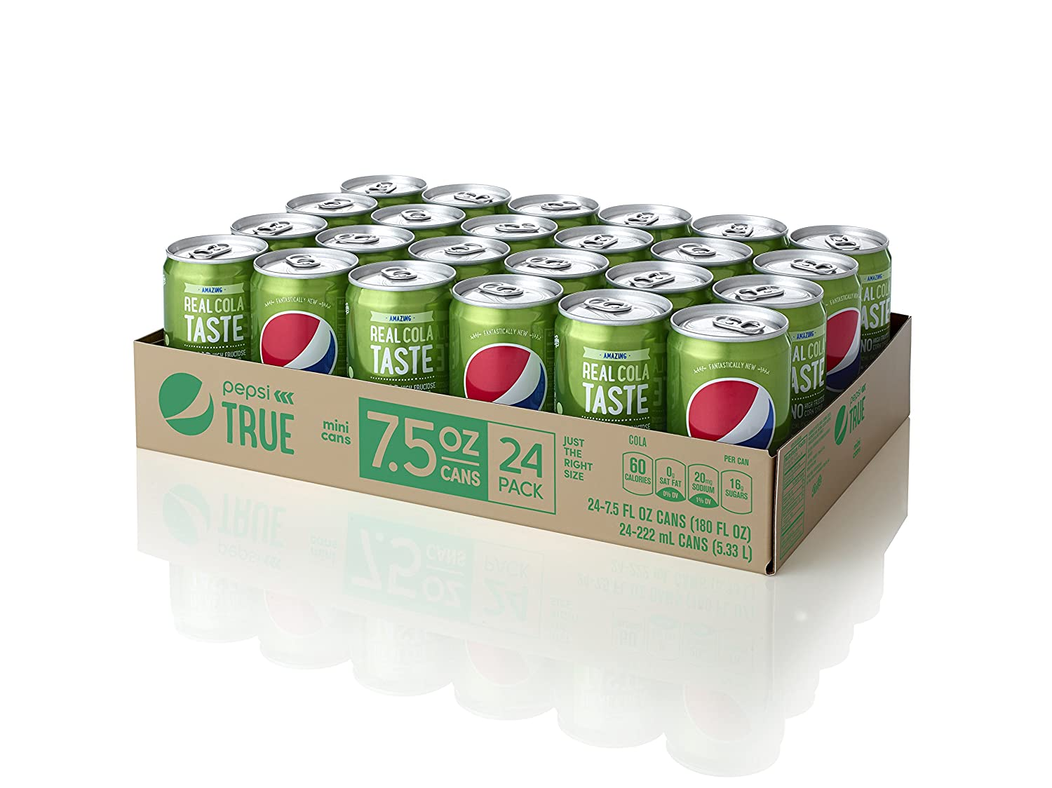 Pepsi True, sold exclusively online. Initially only through Amazon.com but now also available through Walmart.com. Image courtesy of Amazon.com