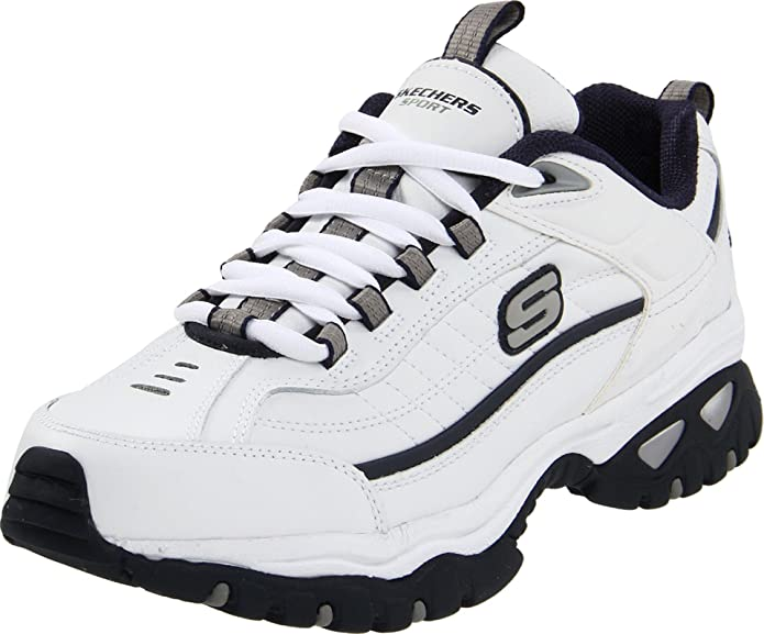 Skechers Sport Men's Energy Afterburn Lace-Up Sneaker,XWhite/Navy,11 XW US