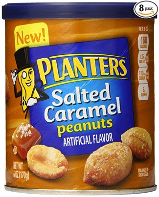 Planters Peanuts, Salted Caramel, 6 Ounce (Pack of 8)